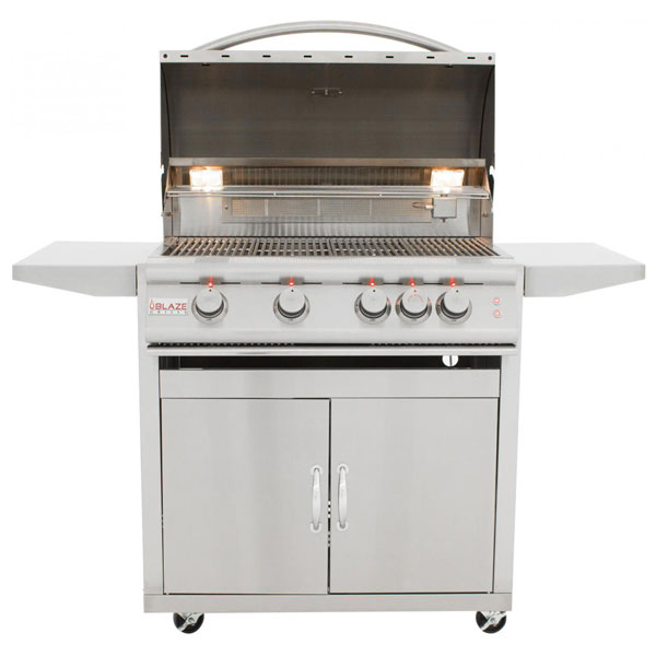 Blaze 32 Inch Lte 4 Burner Grill Cart Rear Burner