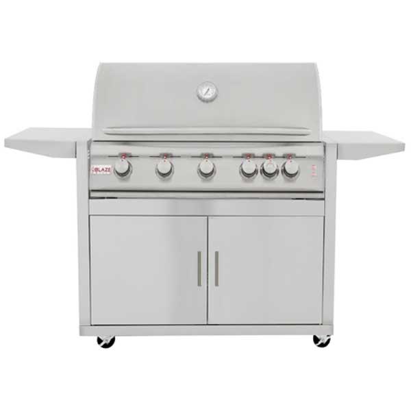Blaze 40 Inch Lte 5 Burner Grill Cart Rear Burner