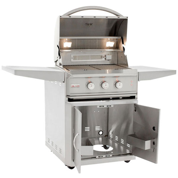 Blaze Professional 27 Inch 2 Burner Gas Grill Cart Rear