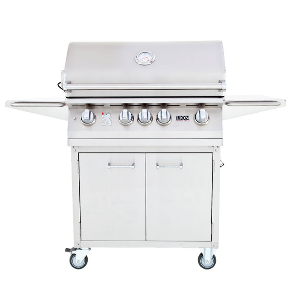Lion L75000 Series 32 Inch 4 Burner Premium Grill Cart
