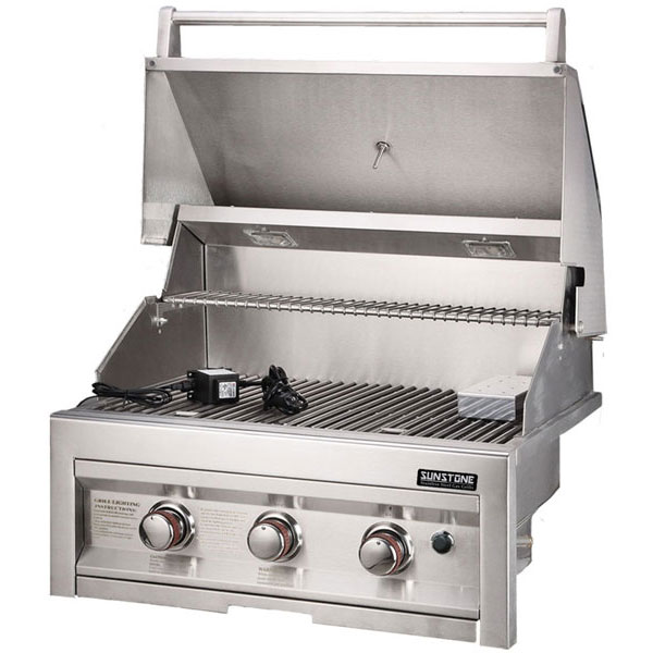 Sunstone 28 Inch 3 Burner Gas Grill Infrared Back Burner