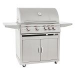 Blaze 32-Inch LTE 4-Burner Grill Cart w/Lighting System & Rear Burner