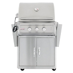 Blaze Professional 27-Inch 2-Burner Grill Cart With Rear Infrared Burner