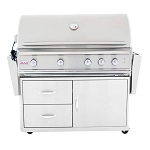 Blaze Professional 44-Inch 4-Burner Grill Cart With Rear Infrared Burner