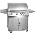 Blaze 32 Inch 4-Burner Grill Cart w/Rear Infrared Burner