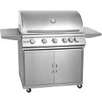 Blaze 40 Inch 5-Burner Grill Cart w/Rear Infrared Burner