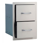 Bull 15-Inch Stainless Steel Double Drawer