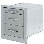 Cal Flame Wide Storage Bin With 3-Drawers