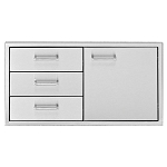 Delta Heat 36-Inch Door/Three Drawer Combo