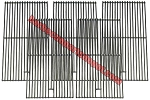 Fire Magic Porcelain Cast Iron Cooking Grids (Set of 5)