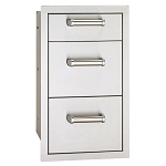 Fire Magic 14-Inch Triple Premium Flush Mount Drawer