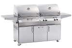 Fire Magic Aurora A830s Freestanding Gas/Charcoal Combo Grill
