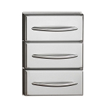 Napoleon Flat Triple Built-In Stainless Steel Drawer