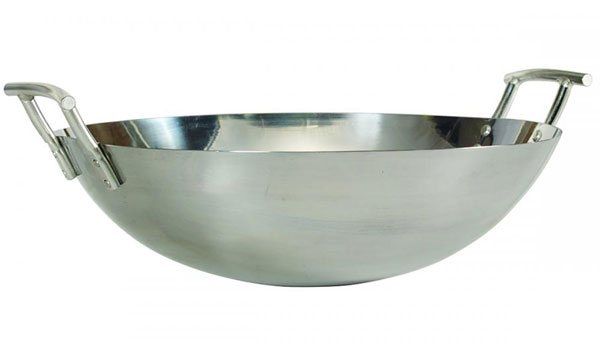 Traditional Bull Stainless Steel Wok