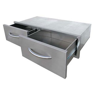 Cal Flame 2-Drawer Horizontal Storage Bin