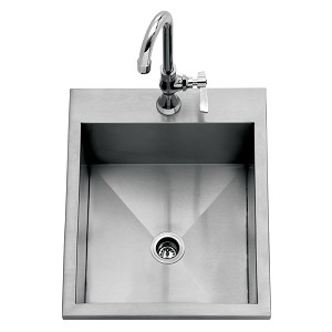 Delta Heat 15-Inch Drop-In Sink