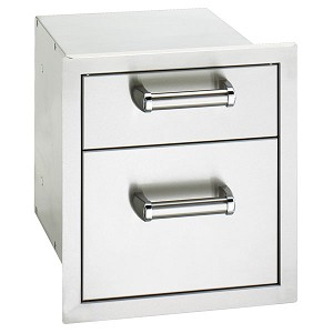 Fire Magic 14-Inch Double Premium Flush Mount Drawer