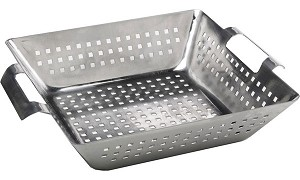 Bull Stainless Steel Square Wok